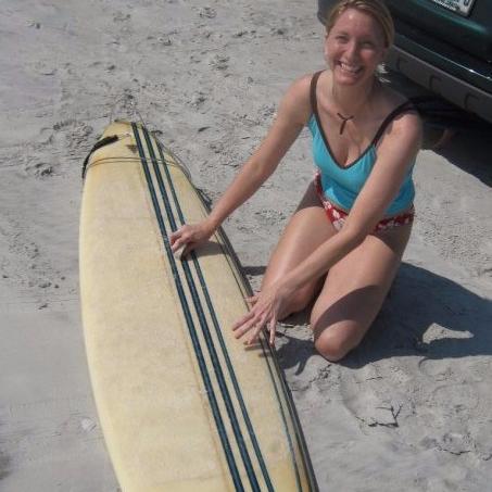 Jen's favorite surfboard