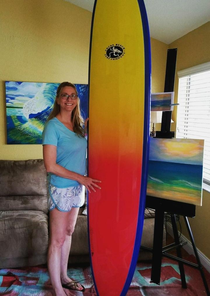 Jenn with new board