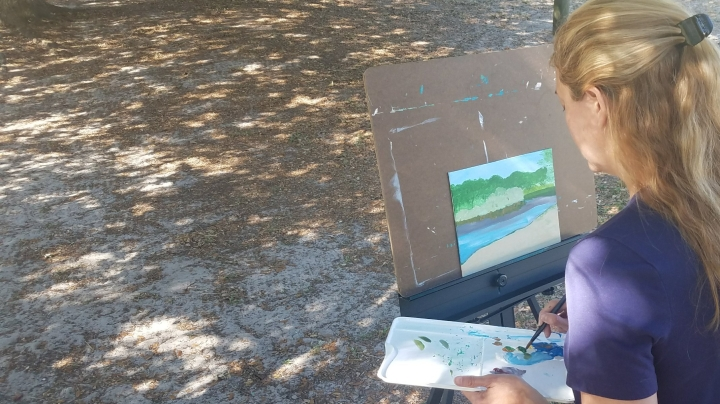 Making Time to Paint on our Recent Camping Trip