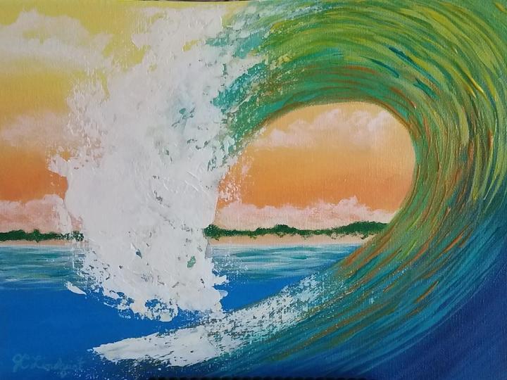 Sunset Island Curl closeup
